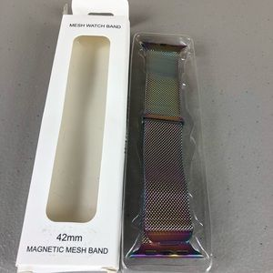 Apple iWatch Rainbow Magnetic Mesh Band Sz 42mm